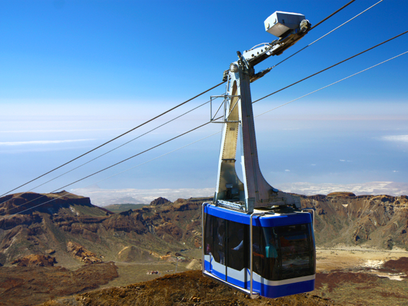 Die Seilbahn Teleferico am Pico del Teide